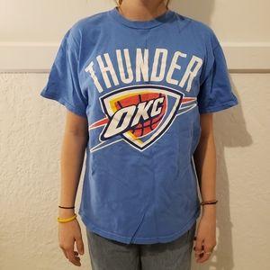 Majestic Medium Blue Tshirt OKC Westbrook #0